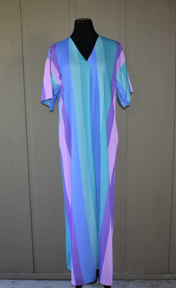 1970's striped caftan