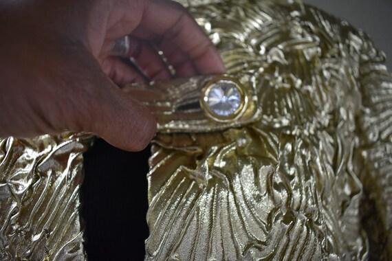 Vintage Gold Pauline Trigere swing coat - image 5