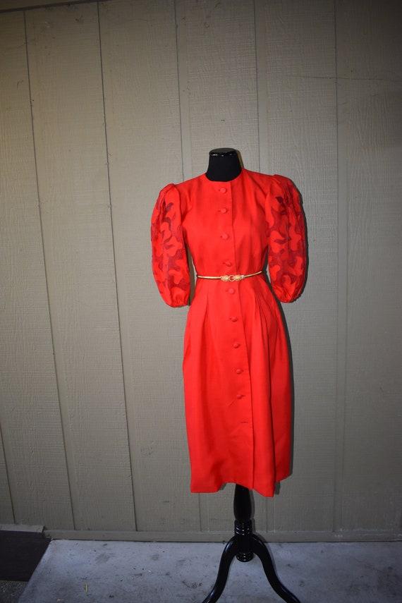 Vintage 1980's Designer Richilene Dress
