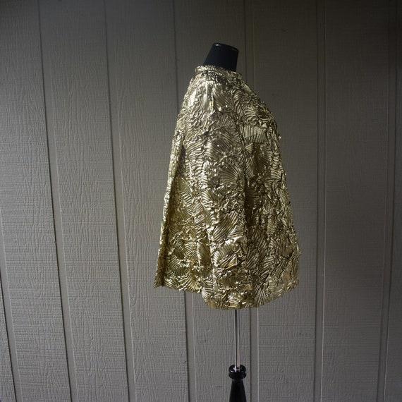 Vintage Gold Pauline Trigere swing coat - image 3