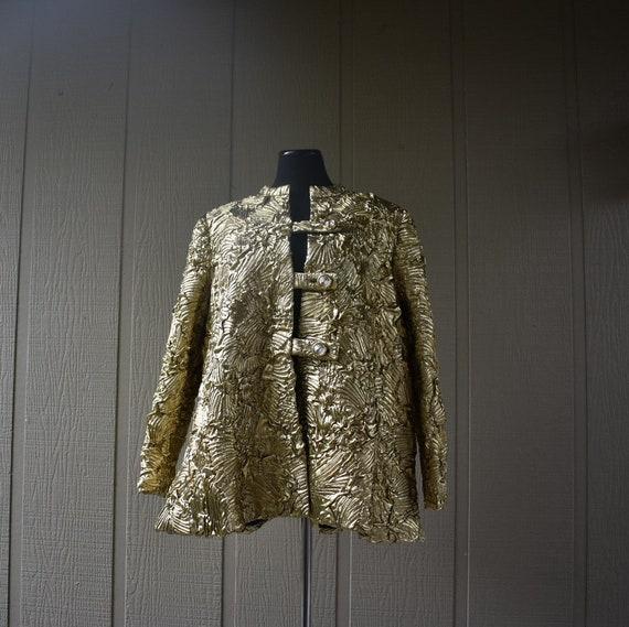 Vintage Gold Pauline Trigere swing coat