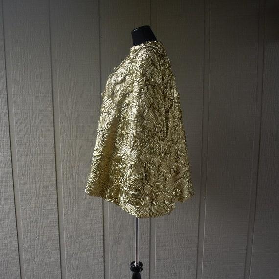 Vintage Gold Pauline Trigere swing coat - image 2