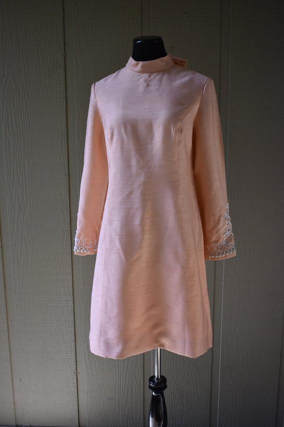 Vintage beaded mod dress
