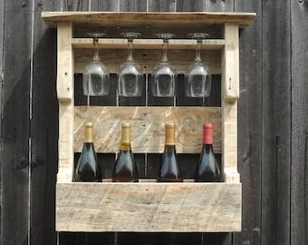 Rustic Wine Rack (Reclaimed Wood)