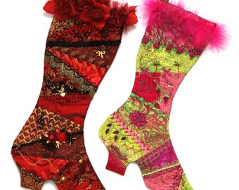Victorian Crazy Quilted Stocking Pattern