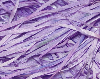 Lavender Hand Dyed Silk Ribbon for Embroidery