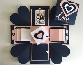 Love Explosion Box Exploding Surprise Card Wedding Gift Anniversary Valentine Birthday