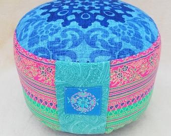 EXTRA HIGH: Meditation Pillow Yoga Pillow Bassetti Fabric Yoga Meditation Tantra Zafu Bolster Floor Cushion Seat Pillow Pillow Full Moon Mandala