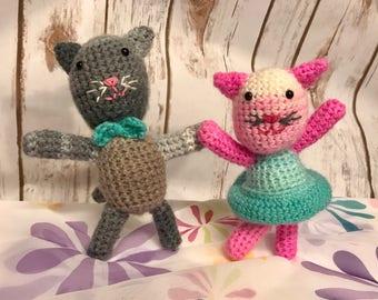 Amigurumi Dancing Kitty Partners