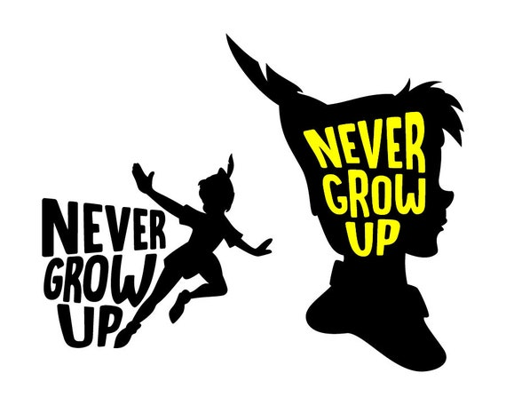 Peter Pan Svg Cut Files Never Grow Up Peter Pan Dxf Png Etsy