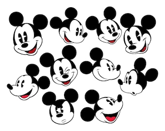 Mickey Mouse Classic SVG Files, Mickey Mouse Classics Files, Mickey Mouse Classic DXF Cut Files, Mickey Mouse SVG Files, Instant Download