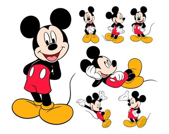Mickey Mouse SVG Files, Mickey Mouse Cutting Files, Mickey Mouse DXF Cut Files, Mickey Mouse Svg, Mickey Mouse SVG Files, Instant Download