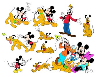 Mickey Mouse SVG Files, Mickey Mouse Pluto Cutting Files, Mickey Family Goofy Play DXF Cut Files, Mickey Pluto SVG Files, Instant Download