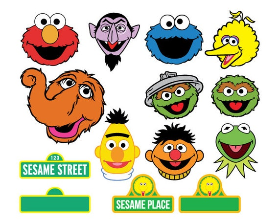 Sesame Street Svg Files Snuffleupagus Sesame Street Dxf Ernie Bert Face Grouch Ernie Dxf Svg Cricut Count Dracula Svg File Instant Download