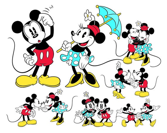 Classic Mickey Minnie Mouse Svg Bestanden Klassiekers Mickey Etsy