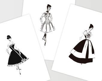 Fashion Dresses Sketches Black And White Best Dresses 2019