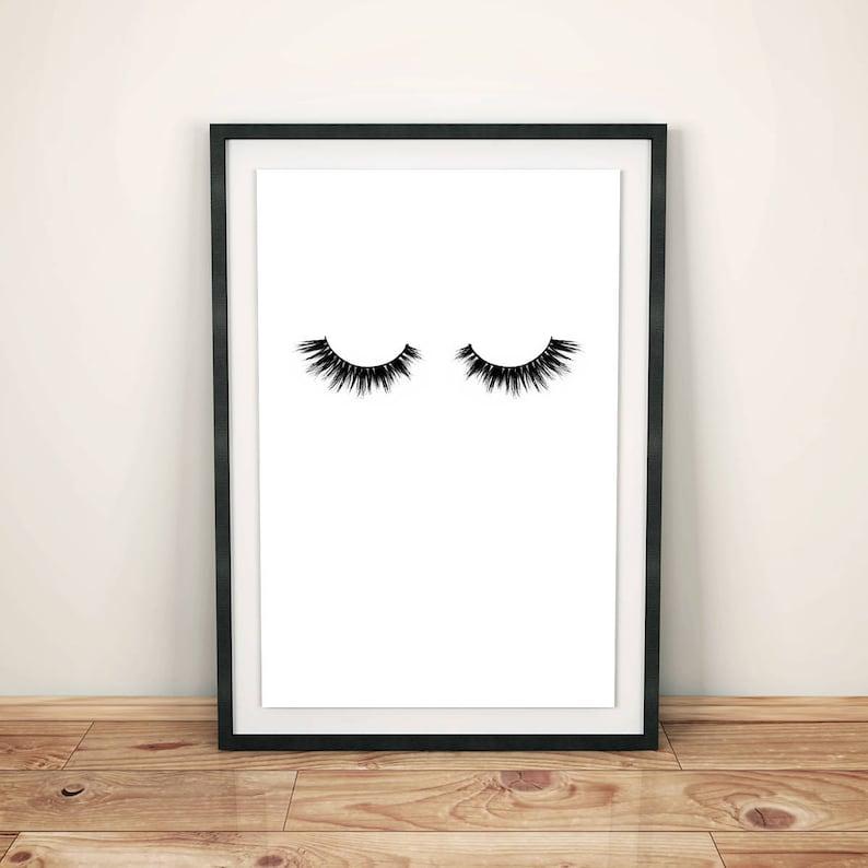Minimalistyczny Plakat Rzęsy Makijaż Druk Mody Dekoracje ścienne Minimal Art Art Wall Moda Plakat Mody Drukowanie W Sypialni Art Glamour