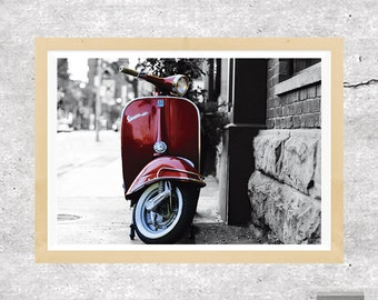 Vespa Print, Vespa Wall Art, Vespa Scooter Print, Vespa Photo, Retro Print, Vespa, Vespa Art, Home Decor, Hipster Art, Printable Download