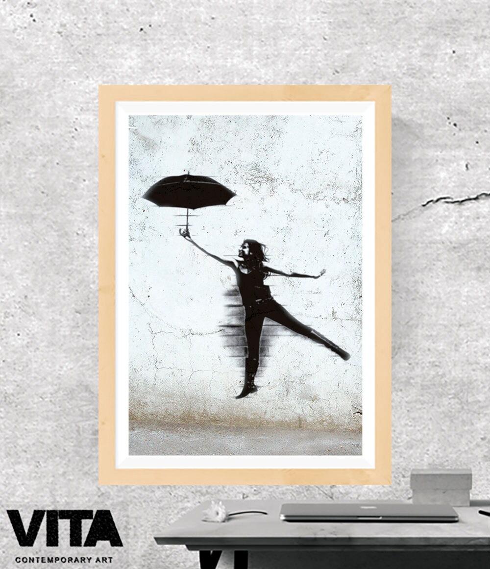 Mädchen-Schablone Regenschirm-Schablone Mädchen Graffiti