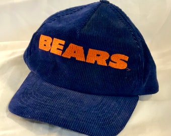 promo code 899b4 3d253 Vintage Bears Corduroy Hat - NFL Chicago Bears - Navy Blue Corduroy Hat  with Orange Embroidery - Snapback, Five Panel, Corduroy Hat