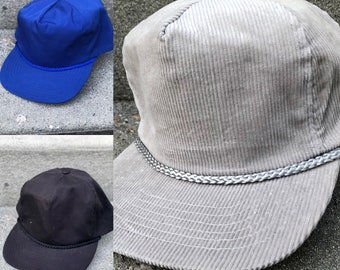 f9db1c5443d77 80s Deadstock Blank Hats - New Never Worn - Strapback