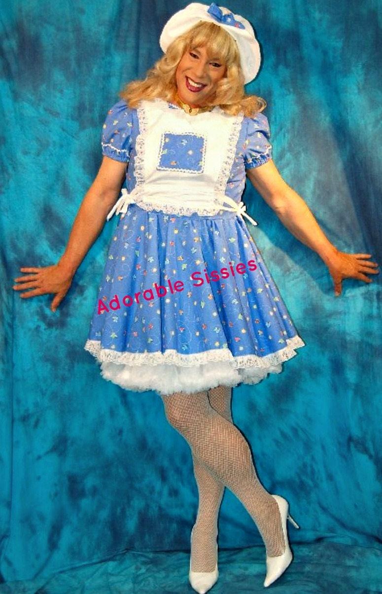 Calling all Sissy Girls Custom Made Sissy Dress with little