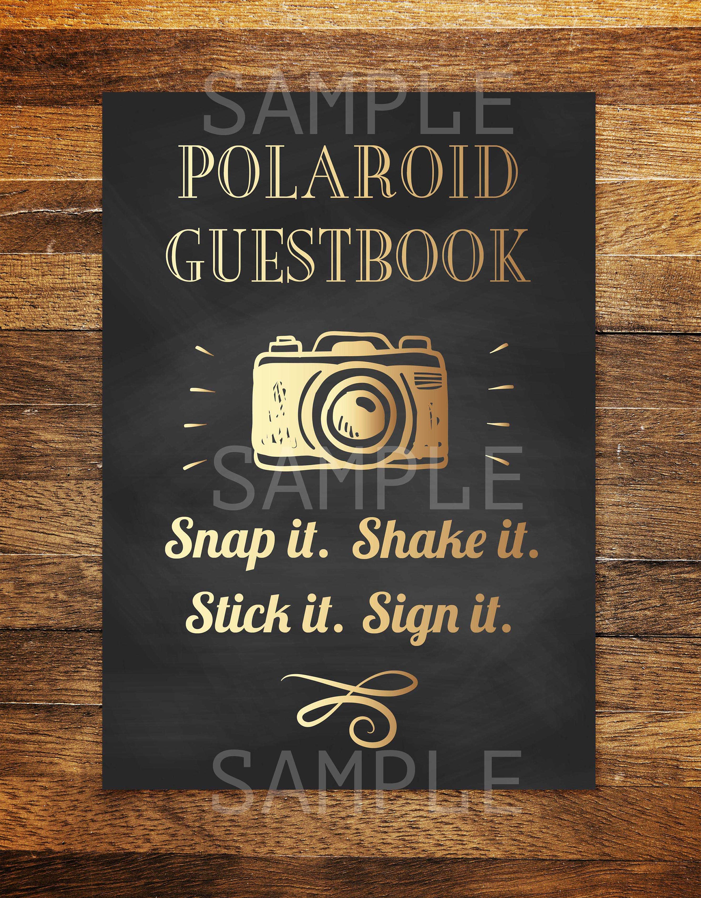 Polaroid Guest Book, Birthday Party Photo Guest Book Sign, Photo ...