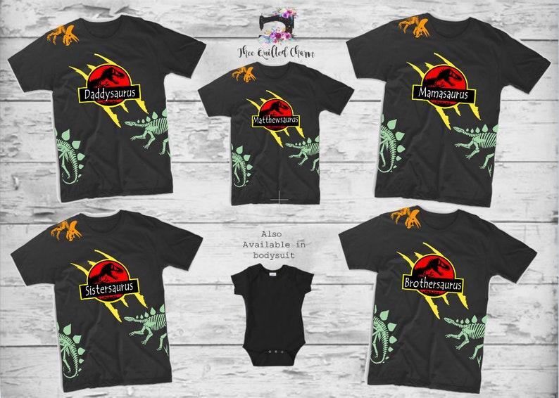 Jurassic Party Boys Birthday Shirt Park Family Shirts Dinosaur Theme Ideas