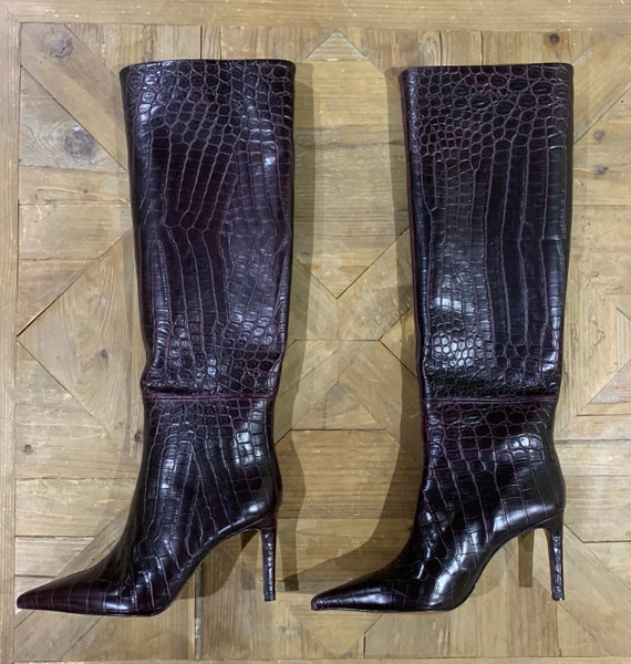 Purple pointed Croc Boots