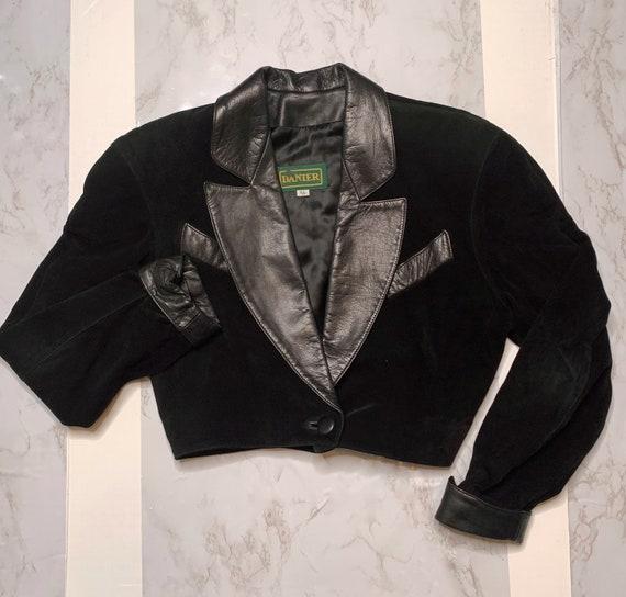 Onyx Suede Crop Jacket