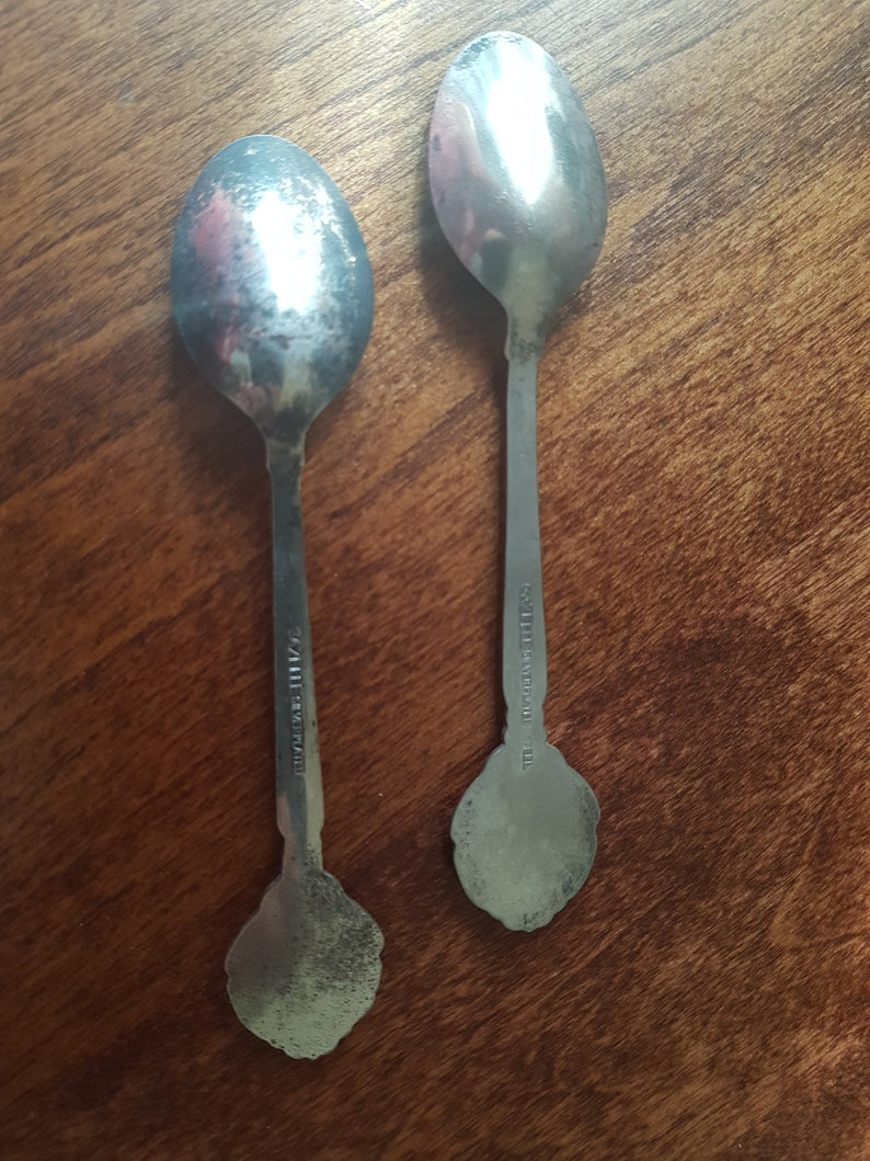 November Commemorative Spoons Vintage Souvenir Spoons Silverplated Collectible Spoons 1980s