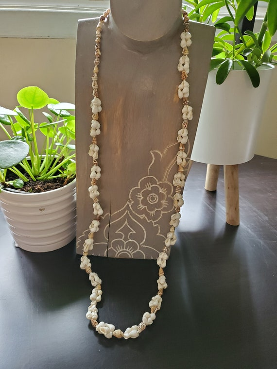 Hippie Necklace Seashell Necklace 18 Inch Beach Necklace Boho Necklace Sea Shell Necklace Ocean Necklace Bi1 Shell Necklace