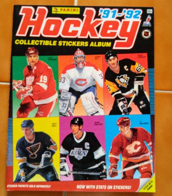 91-92 Panini Hockey Collection Stickers Album