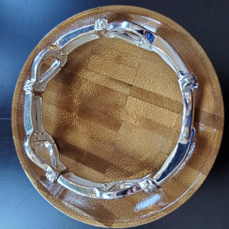 Lariat Bracelet Unmarked Vintage Flexible Bracelet Painted Silver Bracelet