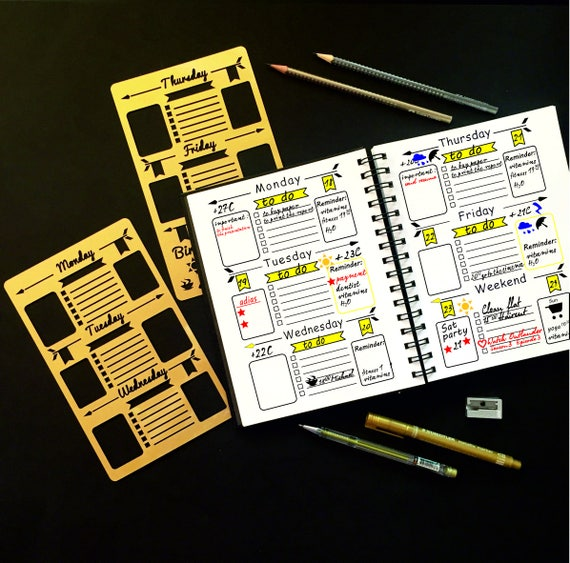 planner and bullet journal stencil
