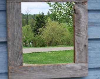 Wooden barn/bath/barnwood bathroom/reclaimed wood mirror mirror/wood framed mirror