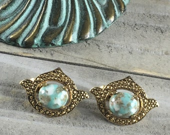 Vintage SARAH COVENTRY Gold Earrings