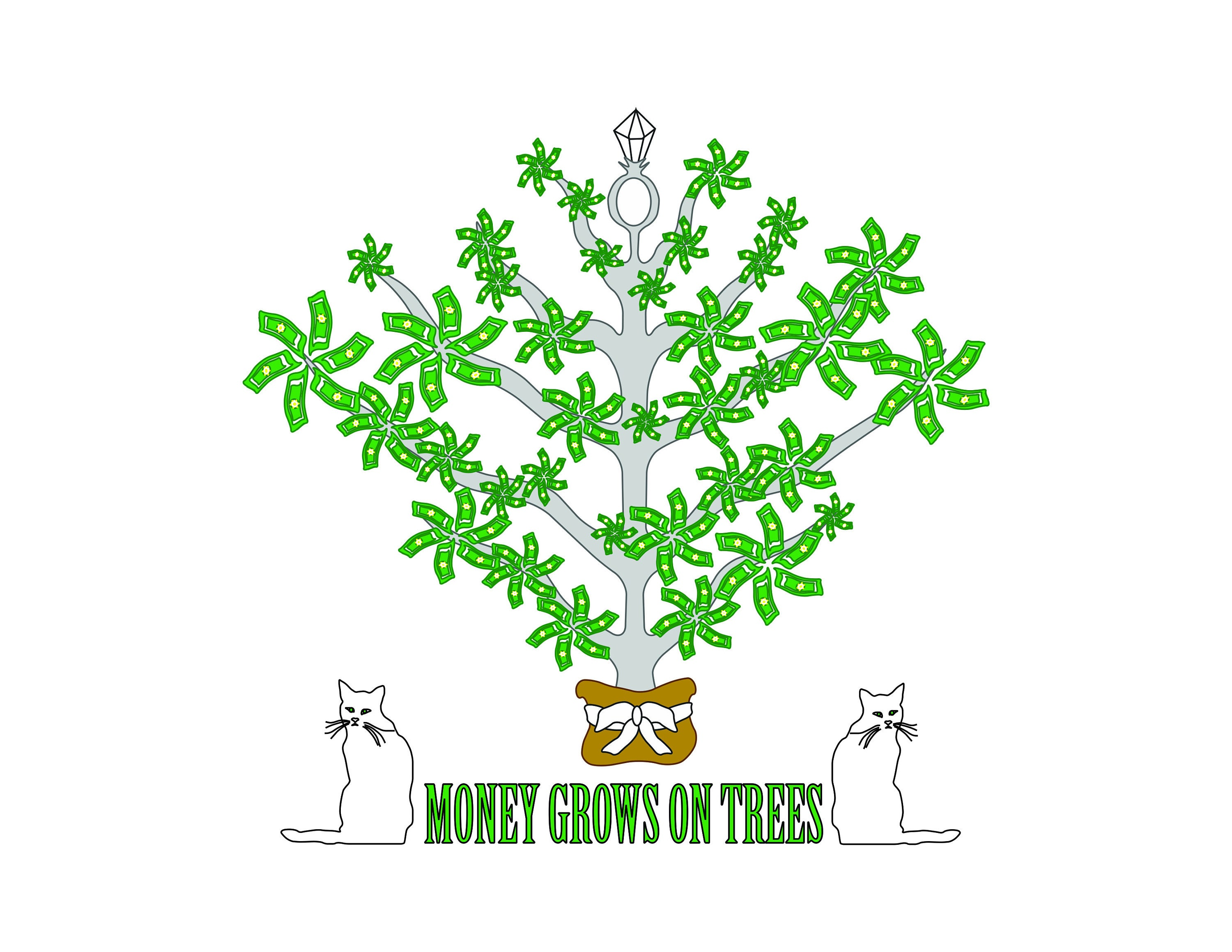 Money Grows On Trees Manifestation Digital Download