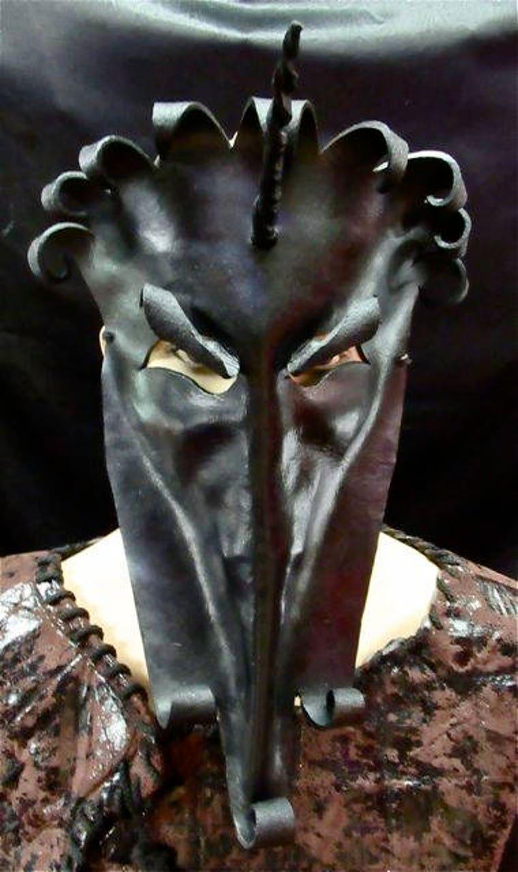 Maleficent Unicorn Leather Mask