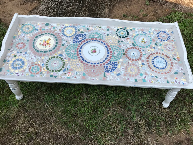 Superbe Shabby Chic Mosaic Coffee Table