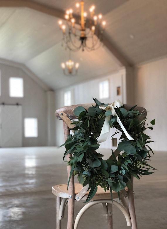 Fresh Eucalyptus Wreath Seeded Eucalyptus Wreath Silver Dollar Wreath Diy Wedding Fresh Greenery Wedding Decorations