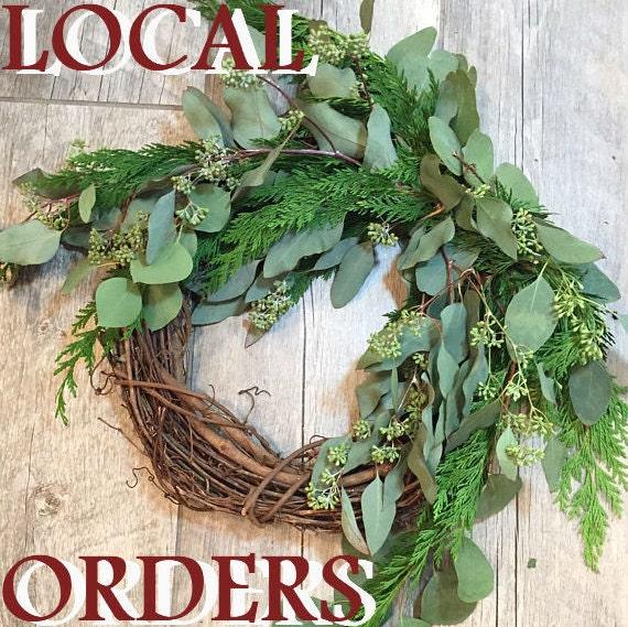 Local Pa Eucalyptus Wreath Fresh Evergreen Seeded Eucalyptus Wreath Diy Christmas Wreath Pickup