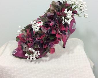 Floral Arrangement in Pink High Heel Pump Shoe