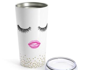 Lashes And Lips Tumbler | Lashes And Lips Coffee Mug | LipSense Mug | Rodan And Fields Mug | Lashes Coffee Mug | Lashes & Lips | Tumbler