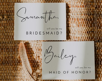 will you be my bridesmaid template
