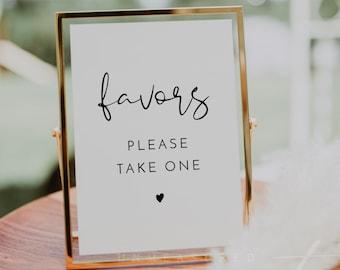 ADELLA Favors Sign Printable, Modern Minimalist Wedding Favor Sign, Please Take a Favor, Sweet Treat Baby Shower Bridal Shower Please Take 1
