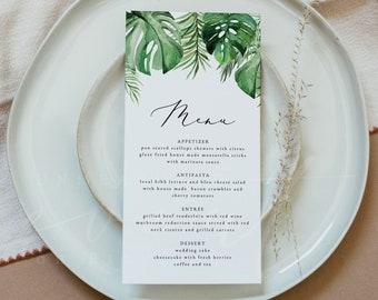 Printables Beach Themed Wedding Menu Card
