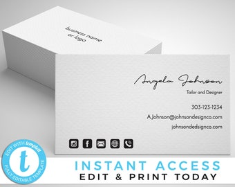 Business card template etsy simple business card business card template printable business card business card business cards paparazzi business cards maxwellsz