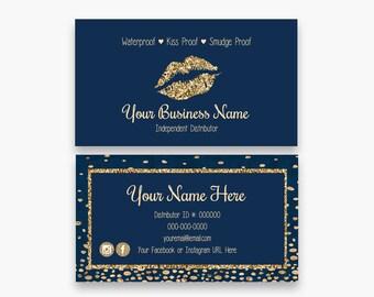 Makeup business card etsy lipsense business cards navy business cards makeup business cards business card template paparazzi business card wajeb Images