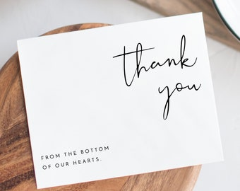 graphic regarding Printable Thank You Card identified as Printable thank on your own Etsy